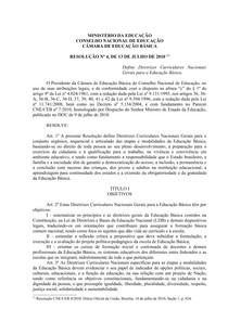 Resolução 4 MINISTÉRIO DA EDUCAÇÃO CONSELHO NACIONAL DE EDUCAÇÃO CÂMARA DE EDUCAÇÃO BÁSICA