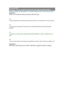prova de Lingua portuguesa presencial