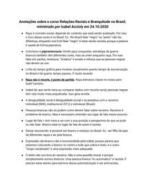 Anotações - Curso Relações Raciais e Branquitude no Brasil (Izabel Accioly)