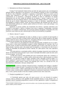 DIREITOS E GARANTIAS FUNDAMENTAIS resumo artigo 5º alunos
