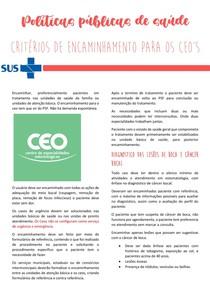 Resumo Politicas Publicas de Saúde - Centro de especialidades odontológicas - CEO