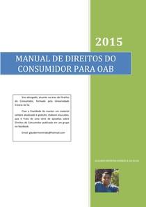 MANUAL DE DIREITOS DO CONSUMIDOR PARA OAB ed 2015