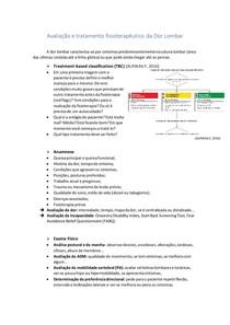 Avaliação e tratamento fisioterapêutico da Dor Lombar