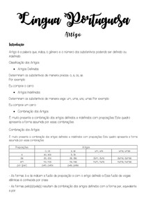Língua Portuguesa - Artigo