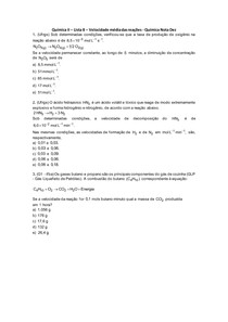 Química II - Lista 08