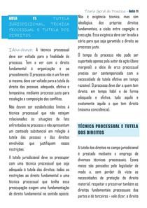 AULA 11 TGP UFES - A TUTELA E AS TÉCNICAS PROCESSUAIS