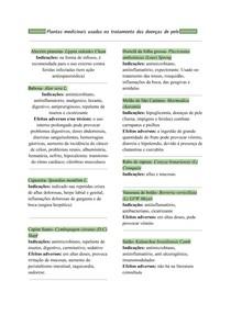 Plantas medicinais usadas no tratamento das doenças de pele