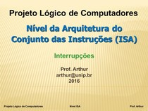 Projeto Logico de Computadores   03   Nivel ISA   Interrupcoes