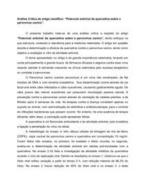 Análise Crítica de artigo científico_ Potencial antiviral da quercetina sobre o parvovírus canino