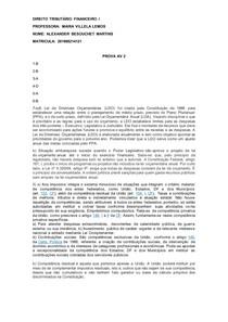 DIREITO TRIBUTÁRIO FINANCEIRO I av2 Prova