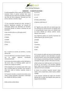 Exercícios Geobrasil - ESTADO