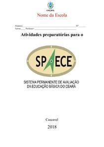 Apostila SPAECE 9º ano - em doc  pronta para ser editada para sua escola