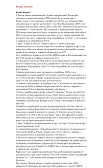 Biologia Molecular (Estudo dirigido)