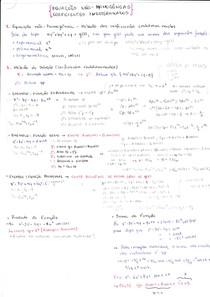 [EQUAÇÕES DIFERENCIAIS] Resumo_Método dos Coeficientes Indeterminados