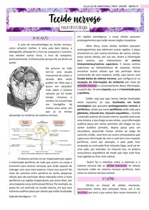 Tecido nervoso / neurohistologia, ANATOMIA - BBPM IV