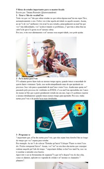 5 Metas de estudos importantes para se manter focado
