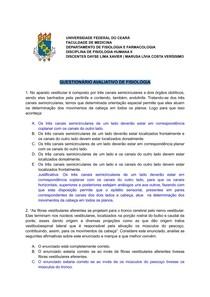 QUESTIONÁRIO AVALIATIVO DE FISIOLOGIA