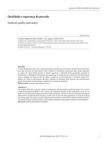 Qualidade e segurança do pescado
