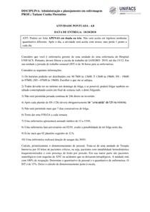 ATIVIDADE PONTUADA.NR01.20182