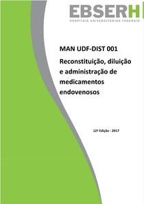 MAN 001 12 Reconstituição  diluição e administração de medicamentos endovenosos