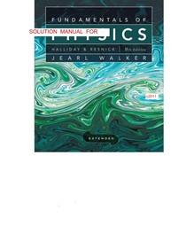 Resolução  Fundamentos de Física, Halliday e Resnick 9ª ed. Vol. 1, 2,3, 4 e 5