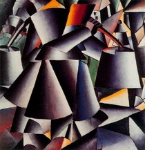 Peasant woman with buckets- Kasimir Malevich