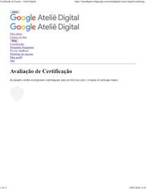 Respostas Google Ateliê (31 corretas)