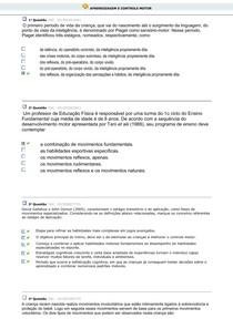 APRENDIZAGEM E CONTROLE MOTOR (QUESTÕES) (1)