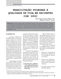 Reabilitação pulmonar e qualidade de vida em pacientes com DPOC ok