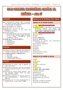 AULA 07 - COMO CONDUZIR INSUFICIÊNCIA CARDÍACA NA INFÂNCIA