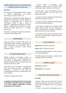 Resumo - Cadeia do Processo Infeccioso Epidemiologia das Doenças Transmissíveis