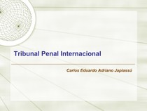 Tribunal Penal Internacional - Prof Carlos Jupiassú