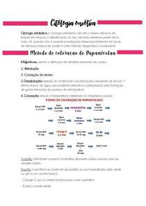 Resumo Citopatologia Oncótica