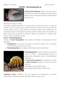 PARASITOLOGIA ÁCAROS