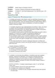 Avaliação II CURRÍCULO E DIDÁTICA DA EDUCAÇÃO DOS SURDOS