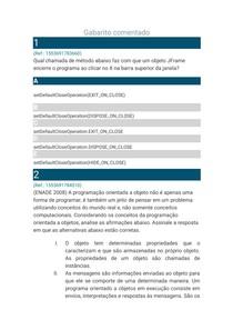 AVALIANDO O APRENDIZADO - PROG II ADAPTA 2