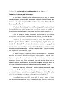 Iniciação aos estudos históricos Jean Glénisson