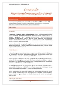 Causas da hepatoesplenomegalia febril