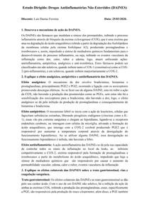Drogas Antiinflamatórias Não-Esteróides (DAINES)