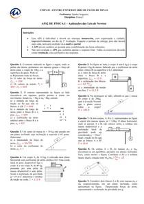 FisI APS2 Aplicações Leis de Newton