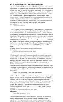 Av - Capital de Giro e Analise Financeira