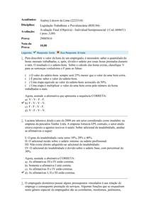 Avaliação Final (Objetiva) - Individual Semipresencial (RHU04)