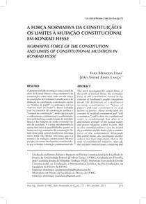 A Força Normativa da Constituição