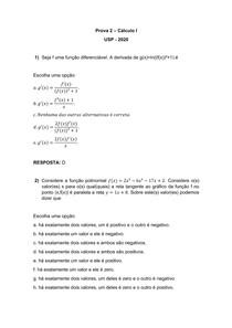 Prova 2 - Cálculo I