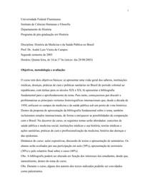 História da Saúde no Brasil