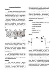 Relatório: Diodo Semicondutor