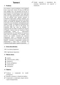 Lipídeos; Lipoproteínas; Vit Lipoproteicas; Tecido Cartilaginoso docx