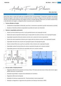 Avaliação Funcional Pulmonar - Pneumologia (Resumo)
