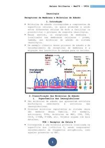 Imunologia - Aula 06 - Moleculas de Adesão e Receptores Celulares