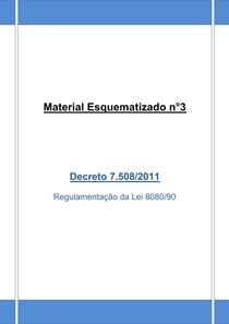 Material Esquematizado n°3 - Decreto 7 508-11 + 45 questões